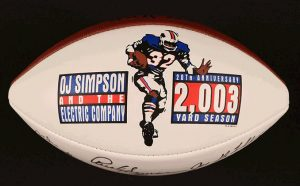 1993 Buffalo Bills Football Commemorating 20th Anniversary of O.J. Simpson 2,003 Yards Rushing Season OJSimpson.co