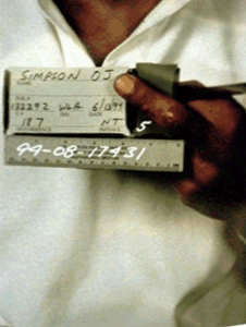 LAPD Photograph of Cut on Middle Finger of O.J. Simpson's Left Hand Taken On June 13 1994 OJSimpson.co
