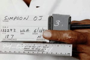 Close-Up Photograph of Cut on Middle Finger of O.J. Simpson's Left Hand Taken By LAPD On June 13 1994 OJSimpson.co