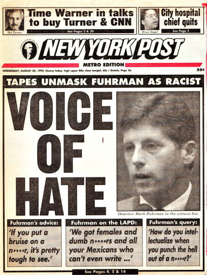 Mark Fuhrman Voice of Hate NY Post