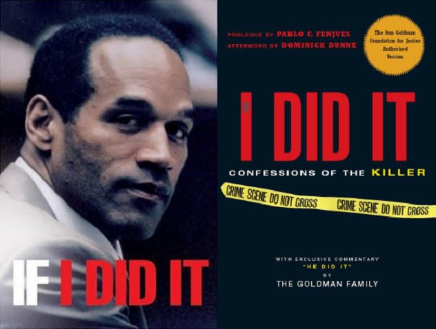 The covers of the Simpson and Goldman versions of If I Did It