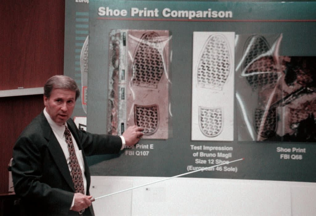 Special Agent Bodziak's Shoe Print Comparison Chart