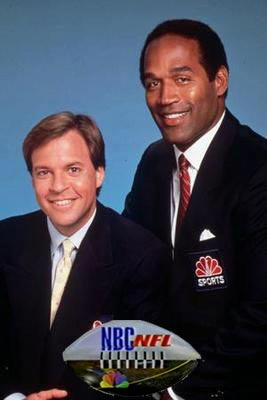 Bob Costas and OJ Simpson NFL Live on NBC 1991