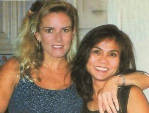Nicole Brown Simpson and Cora Fischman in December 1993