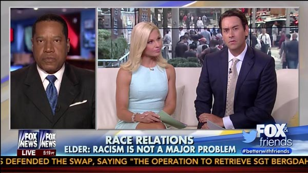 Alexandra Datig's husband Larry Edler tells FOX News viewers that Racism is not-a Problem in America.