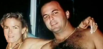 Nicole Brown Simpson and Keith Zlomsowitch in 1992.