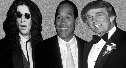 Howard Stern. OJ Simpson. Trump wedding. December 1993. OJSimpson.co