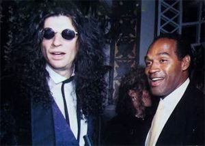 Howard Stern and O.J. Simpson at the wedding of Donald Trump. December 20 1993. OJSimpson.co