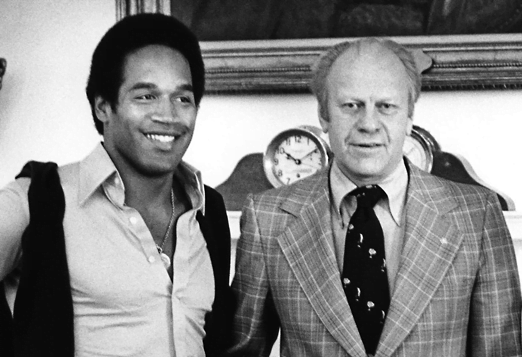 OJ Simpson and President Gerald R Ford. July 3, 1976. The White House.