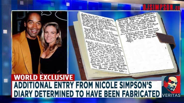 EXCLUSIVE: Additional Entry from Nicole Simpson's Diary Determined to Have Been Fabricated
